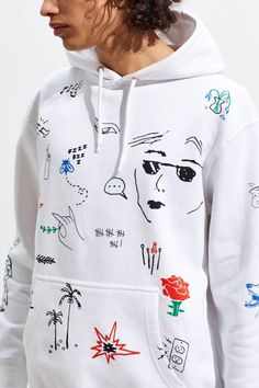 Graphic Tees, Tops, + Hoodies for Men Diy Fashion Videos, Diy Fashion Projects, Fashion Ideas, Diy Fashion Mens, Diy Fashion Accessories, Painted Clothes, Apparel Design, Sweat Shirt, Custom Clothes