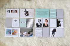 Gorgeous + Simple (Black, White and Light Blue) Project Life Layout