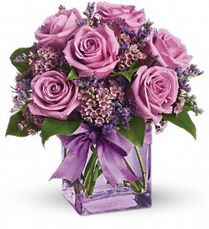 This is lovely for the cake table &/or book signing table, from a floral shop in Big Bear Lake, can be delivered for $44.95