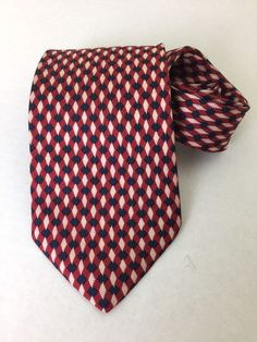 """Brooks Brothers Makers All Silk Neck Tie Hand Made USA Red White and Blue 60""""  #BrooksBrothers #Tie"""