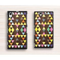 Cool color chevron sony casemonogram sony xperia z1 caseart vivid sony casecolorful sony xperia z caseart triangle xperia z1 case negle Choice Image