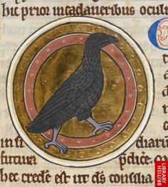 Image of an item from the British Library Catalogue of Illuminated Manuscripts Library Catalog, British Library, Illuminated Manuscript, Imagination, Crows, Ravens, Detail, Drawings, Butterflies