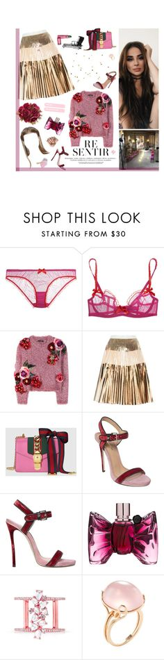 """""""I know you're nearby and I know your purpose Take one look at you, you're heavens incarnate"""" by alxksandria ❤ liked on Polyvore featuring L'Agent By Agent Provocateur, Dolce&Gabbana, Proenza Schouler, Gucci, Dsquared2, Viktor & Rolf, Anne Sisteron and Goshwara"""