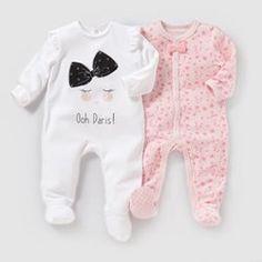 Pyjama velours (lot de 2) 0 mois-3 ans R baby - Pyjama, sous-vêtements