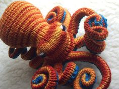 Knitted Octopus ~ this guy can live in my crochet coral reef