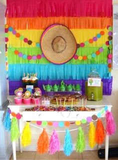 Fiesta Birthday Party Fiesta Party Table from a Colorful Fiesta Birthday Party on Kara's Party Ideas Mexican Birthday Parties, Mexican Fiesta Party, Fiesta Theme Party, Festa Party, Birthday Party Themes, Birthday Table, Mexico Party Theme, Mexico Party Decorations, Fiesta Party Centerpieces