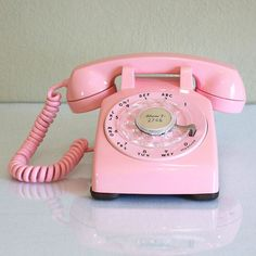 1960 Pink Desk Telephone