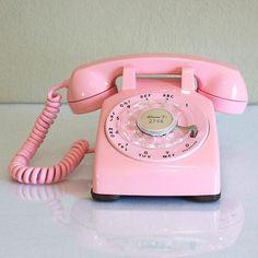 1960 Pink Desk Telephone