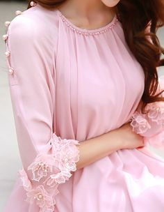 Korean Women`s Fashion Shopping Mall, Styleonme. Cute Short Dresses, Casual Formal Dresses, Elegant Dresses For Women, Beautiful Dresses, Frock Fashion, Fashion Dresses, Women's Fashion, Girls Dresses Sewing, Simple Pakistani Dresses