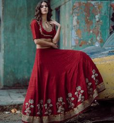 Jayanti reddy # lehenga # bridal wear # red love #
