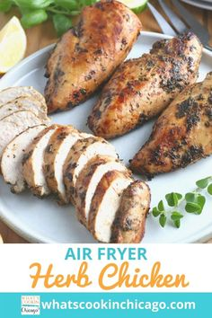 Air Fryer Herb Chicken Breasts Air Fryer Recipes Chicken Breast, Herb Chicken Recipes, Lemon Herb Chicken, Cooking With Olive Oil, Chicken Breasts, Other Recipes, Main Meals, No Cook Meals, Main Dishes