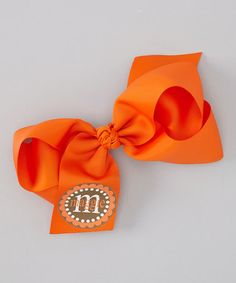 Orange Personalized Bow Clip #zulily #zulilyfinds