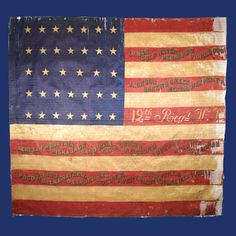 National Colors of the Wisconsin Infantry, Army of the Tennessee. After the war, the flag was loaned to Grant's Tomb in 1901 and was on exhibit there until It was reclaimed by the State of Wisconsin in Civil War Flags, Civil War Art, Military Art, Military History, Union Flags, America Civil War, Civil War Photos, Old Glory, American Pride