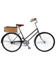 This handmade vintage-style bike has a leather saddle and a wooden crate for books and bags. $595, Bowery Lane Bicycles