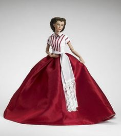 Scarlett's Red Christmas Dress, Gone With the Wind