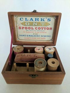 Sewing Box Wooden. P