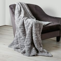 Scatter Box Hepburn Faux Fur Throw, Silver, 130 x 150 Cm