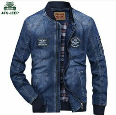 New 2017 Spring Retro Denim Jackets Fleece Mens Jeans Coats Winter Jackets Brand CLOTHES Thin Denim Coat Men Asian Size. Denim Bomber Jacket, Denim Jacket Fashion, Denim Coat, Mens Fashion, Denim Jackets, Mens Polo T Shirts, Boys Shirts, Mens Sweatshirts, Jacket Brands
