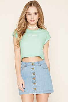 Just Do You Graphic Crop Top