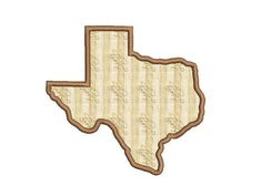 Texas Applique Design Texas Embridery Design