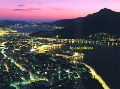 Lecco, #Italy by night (50 km North of #Milan)