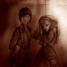 Hiccup and Elsa Victorian style