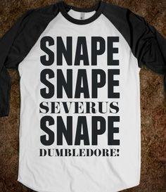 Herrrrrrrmione! Snape @Skreened Tees Tees Tees Tees. I want this shirt reallly…