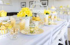 yellow & white High Tea party