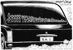zapiro cartoons south africa politics: