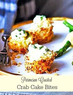 Parmesan Crusted Crab Cake Bites With Chive Aioli - The recipe for these Parmesan crusted crab cake bites comes from the latest seasonal book released by the Editors of Southern Living. I just received my copy of Christmas All Through The South.