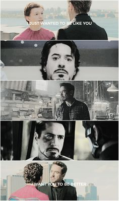 Tony would honestly be a good father.