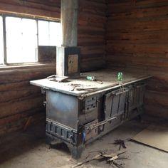 My ancestors' stove! Trapper Lodge
