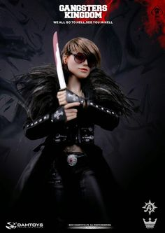 """toyhaven: Preview DAM TOYS Gangsters Kingdom 1/6 scale Spade 6 """"Ada"""" (first female figure in series)"""