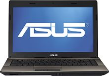 "Asus laptop: 14"" display, Intel Core i3 2.3GHz, 4GB RAM, 320GB HD, 0.3MP built-in webcam, 5.4lbs and 1.5"" thin. $400."