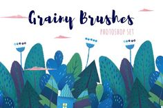 Grainy Brushes For Photoshop by purple_swarm on @creativemarket