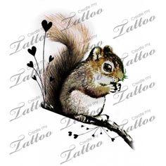 Squirrel Love Tattoo | Eastern Grey Squirrel #35033 | CreateMyTattoo.com