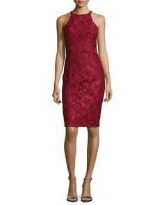 Sleeveless+Lace+Cocktail+Dress,+Smolder+by+Black+Halo+at+Neiman+Marcus.