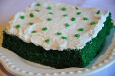 Green Velvet Sheet Cake with That's the Best Frosting I've Ever Had! ;-)