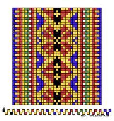 Samisk nr. 36 Inkle Weaving Patterns, Loom Weaving, Loom Patterns, Cross Stitch Patterns, Finger Weaving, Inkle Loom, Card Weaving, Loom Bands, Weaving Techniques
