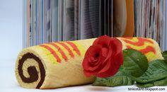 TERECETARIO: BRAZO GITANO ESPECIAL SANT JORDI Chocolate Nestle, Sushi, Ethnic Recipes, San, Deserts, Cake Recipes, Piping Bag, Fairy Cakes, Arms