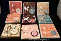 Boxen mit Schmetterlingsverschluss, gefüllt mit vier Merci, Stampin Up, Stempelhexe, Sandra Lohr, Jüchen