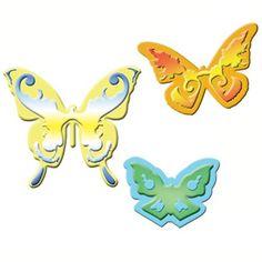 Spellbinders - Shapeabilities Collection - Die Cutting and Embossing Templates - Butterflies 2 Paper Butterflies, Beautiful Butterflies, Butterfly Shape, Comfy Hoodies, Embellishments, Stencils, Wings, Scrapbook, Templates