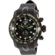 Invicta Men's Pro Diver 17812 Black Rubber Swiss Chronograph Watch