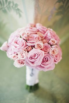 #Pink #Bouquet #Roses   See the wedding on #SMP: http://www.stylemepretty.com/massachusetts-weddings/2013/12/09/boston-wedding-at-harvard-mit-from-cly-creation  Photography: CLY Creation