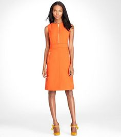 tory burch mariel dress in orange - would be great with mint, turquoise or hot pink accessories too