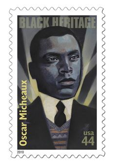 Harlem Renaissance film pioneer and author Oscar Michaeaux featured on US Stamp - Black Heritage. African-American History Month. Black History Month. African-American men.