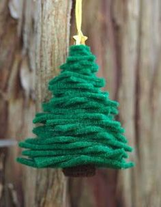 Coloured Buttons: Christmas Tree Ornament for Kids to Make