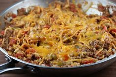 Ground Beef Skillet Spaghetti | 21 Delicious One-Pot Meals That Are Actually Affordable