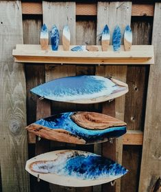 Resin and Wood Surfboards Contain the Crashing Beauty of Ocean Waves - Resin - Wood and Resin Art Surfboard by TRVLX - Surfboard Painting, Surfboard Art, Skateboard Art, Epoxy Resin Art, Diy Resin Art, Surf Art, Ocean Waves, Art Boards, Penny Boards