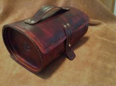 "Vintage style antique brown leather by ThunderAlleyLeather on Etsy, $99.00. 10"" x 6"" x 5""."